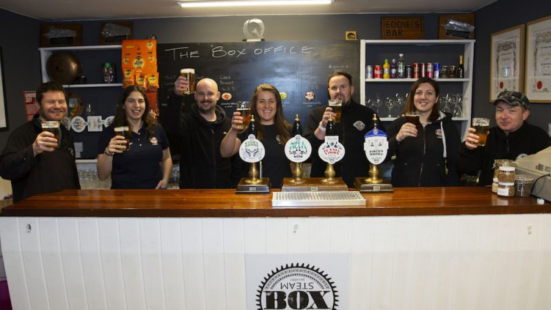 Box Steam Brewery and Bath Rugby Ladies celebrate 15 years